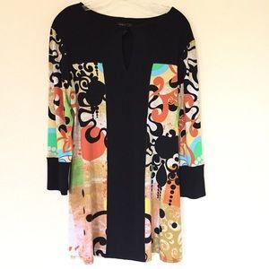 Eva Varro Black Floral Tunic